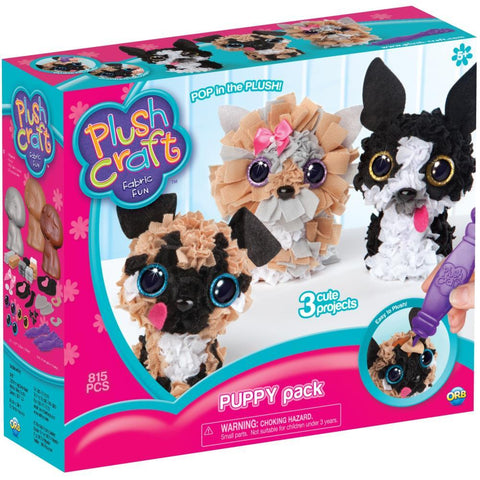 Plushcraft Fabric Fun Kit - Puppy Pack