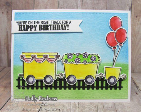 Your Next Stamp Clear Stamps 4x8 - All Aboard Train Cart