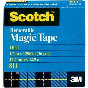 Scotch - Removable Tape .50X36yd
