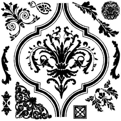 Prima Marketing - Iron Orchid Designs Decor 12x12 inch Clear Stamps - Arabesque