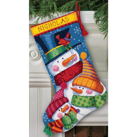 Dimensions Stocking Needlepoint Kit 16 inch Long - Freezin Season Stitched Wool & Thread