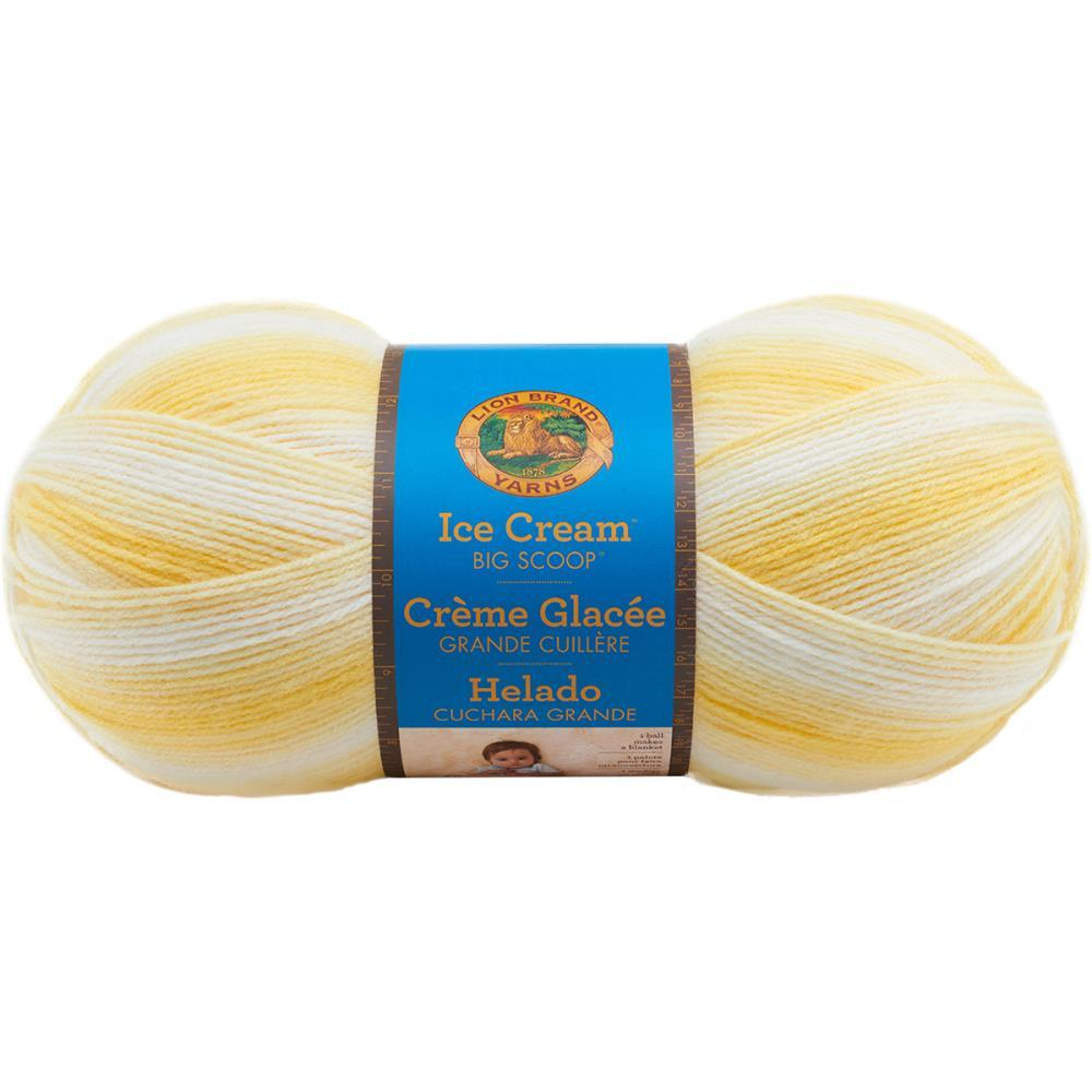 Lion Brand - Ice Cream Big Scoop Yarn - Lemon Meringue 248g