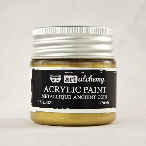 Prima - Finnabair Art Alchemy - Metallique Acrylic Paint - Ancient Coin