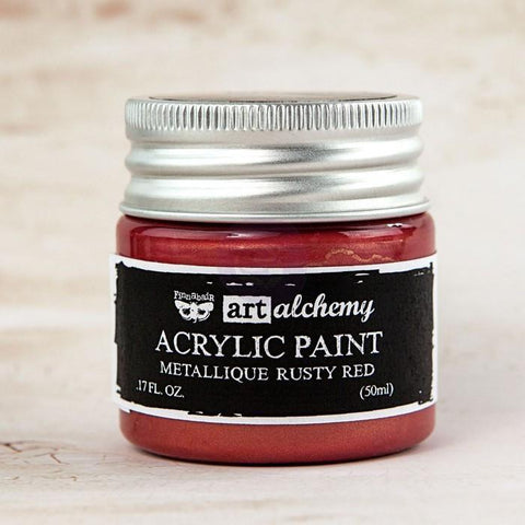 Prima - Finnabair Art Alchemy - Metallique Acrylic Paint - Rusty Red