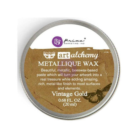 Prima Marketing - Finnabair Art Alchemy Metallique Wax .68 Fluid Ounce - Vintage Gold