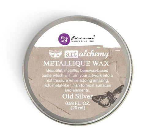 Prima Marketing - Finnabair Art Alchemy Metallique Wax .68 Fluid Ounce - Old Silver