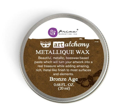 Prima Marketing - Finnabair Art Alchemy Metallique Wax .68 Fluid Ounce - Bronze Age