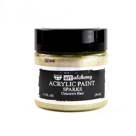 Prima Marketing - Finnabair Art Alchemy Sparks Acrylic Paint 1.7 Fluid Ounces - Unicorns Hair