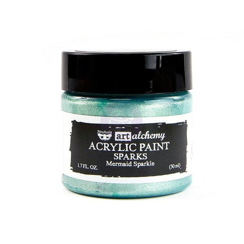 Prima Marketing - Finnabair Art Alchemy Sparks Acrylic Paint 1.7 Fluid Ounces - Mermaid Sparkle