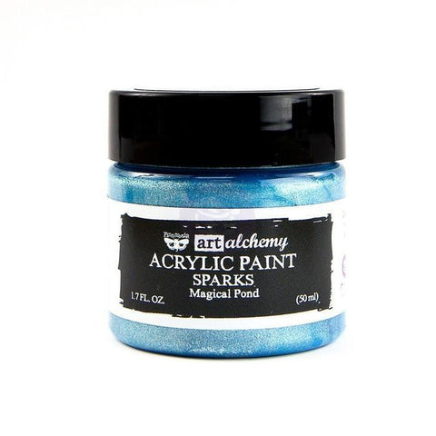 Prima Marketing - Finnabair Art Alchemy Sparks Acrylic Paint 1.7 Fluid Ounces - Magical Pond