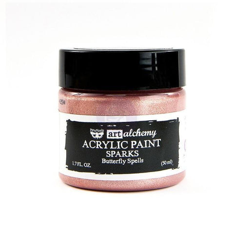 Prima Marketing - Finnabair Art Alchemy Sparks Acrylic Paint 1.7 Fluid Ounces - Butterfly Spells