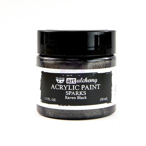 Prima Marketing - Finnabair Art Alchemy Sparks Acrylic Paint 1.7 Fluid Ounces - Raven Black