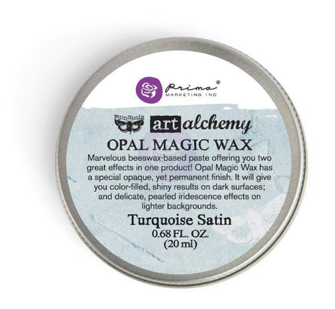 Prima Marketing - Finnabair Art Alchemy Opal Magic Wax .68 Fluid Ounce - Turquoise Satin