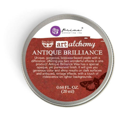 Prima - Finnabair Art Alchemy - Antique Brilliance Wax - Fire Ruby
