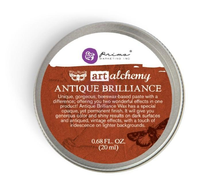 Prima - Finnabair Art Alchemy - Antique Brilliance Wax - Red Amber