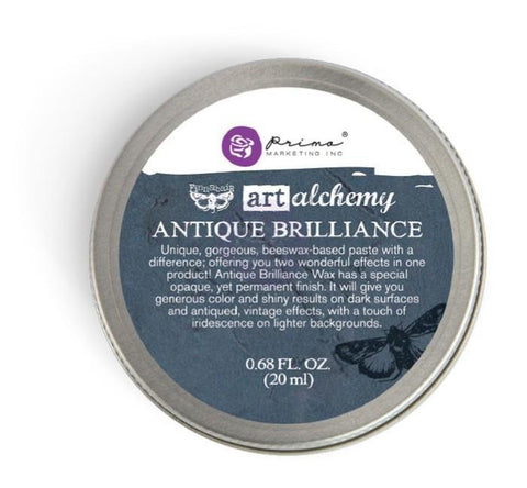 Prima Marketing - Finnabair Art Alchemy Antique Brilliance Wax .68 Fluid Ounce Mystic Turquoise