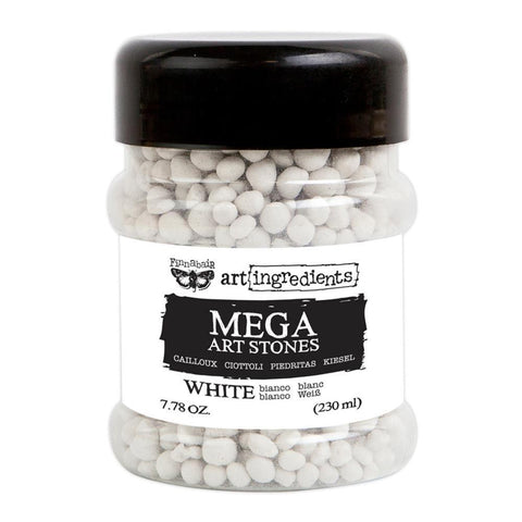 Prima Marketing - Finnabair Art Ingredients Mega Art Stones 7.78 Ounces White