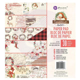 Prima Marketing - D/Sided Paper Pad 8x8 inch 30 pack - Christmas In The Country 6 Designs/5 Ea