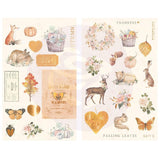 Prima Marketing - Autumn Sunset - Chipboard Stickers 34 pack Icons withFoil Accents