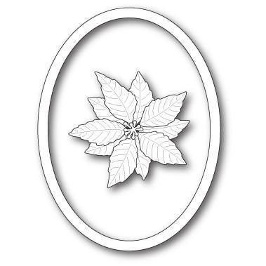 Memory Box Die - Decorative Poinsettia Oval