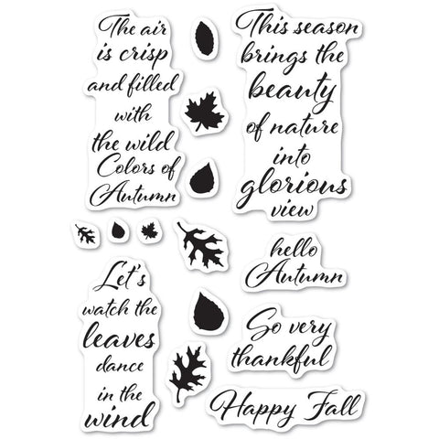 Poppystamps - Clear Stamp Set - Autumn Leaves