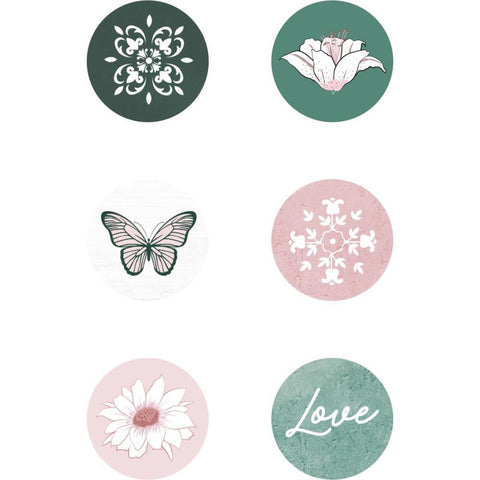 Kaisercraft - Lily & Moss Adhesive Curios 6 pack