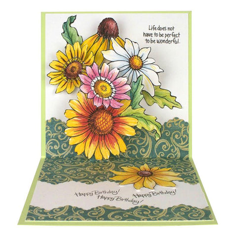 Stampendous Cling Stamp - Happy Daisy - 4.5x5.5 inch