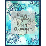 Stampendous - Cling Stamp - Merry Always - 4.25x3.5 inch