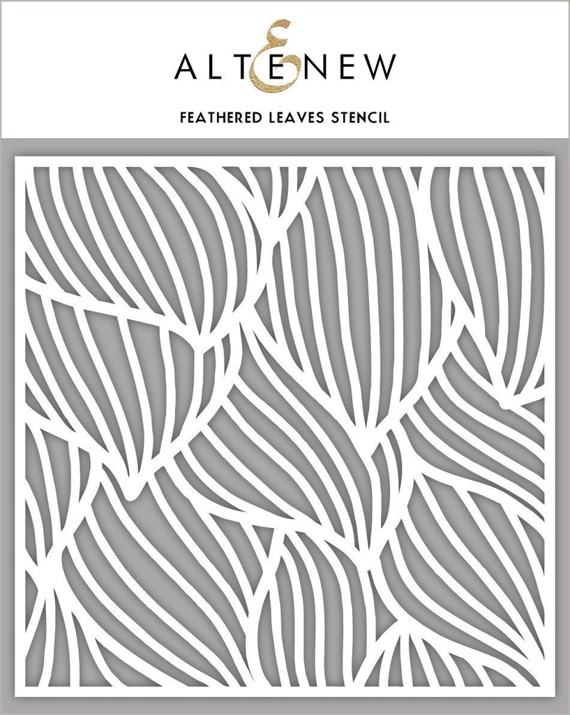 Altenew Stencil - Feathered Leaves