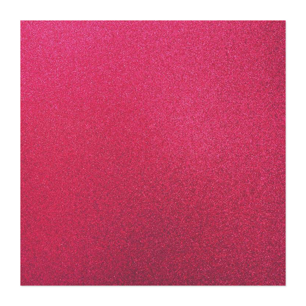 Kaisercraft - Glitter Cardstock 12in x 12in - Flamingo