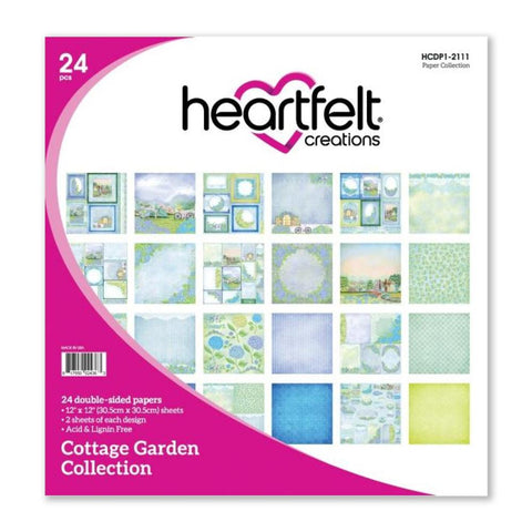 Heartfelt Creations D/Sided Paper Pad 12in x 12in 24/Pkg - Cottage Garden