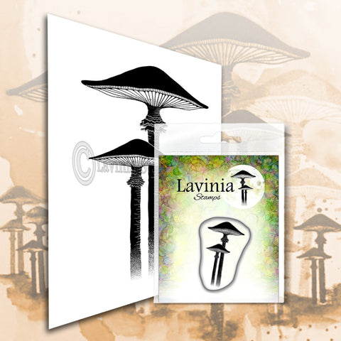 Lavinia Stamps - Meadow Mushroom (Miniature) - Polymer Stamp - Size 2.5cm tall