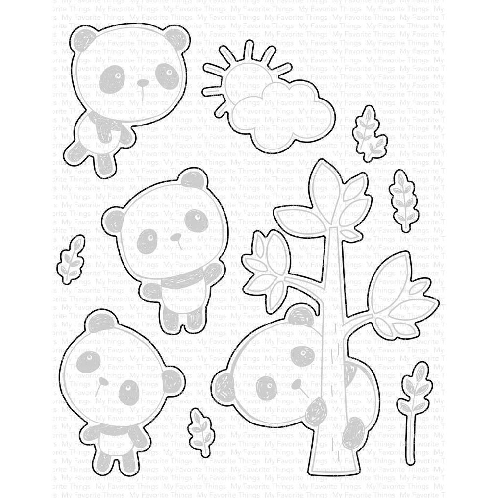 My Favorite Things Dies - Panda Pals Die-namics