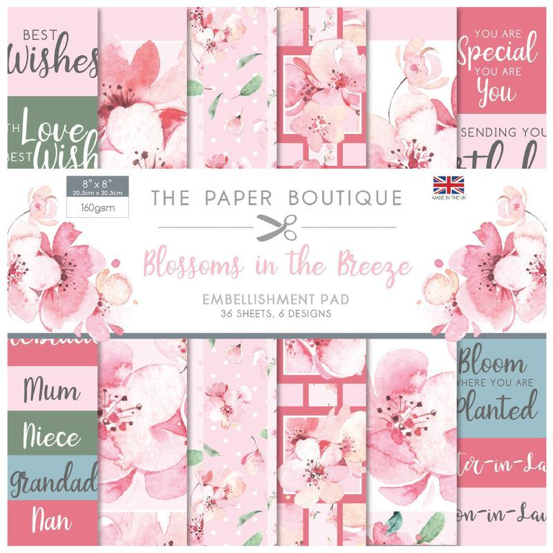 The Paper Boutique - Blossoms in the Breeze 8 x 8in Embellishments Pad
