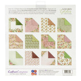 Crafter's Companion Double-Sided Cardstock 12in x 12in 40 pack, 180gsm - Nature's Garden Peony, 12 Designs/3 Each