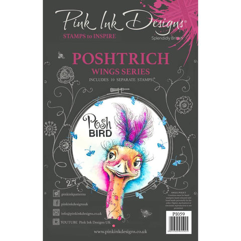 Pink Ink Designs A5 Clear Stamp Set - Poshtrich