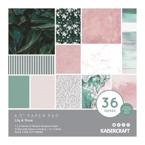 Kaisercraft - Paper Pad 6.5in x 6.5in 40 pack - Lily & Moss