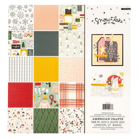 Crate Paper Snowflake Collection - 12 x 12 inch Paper Pad