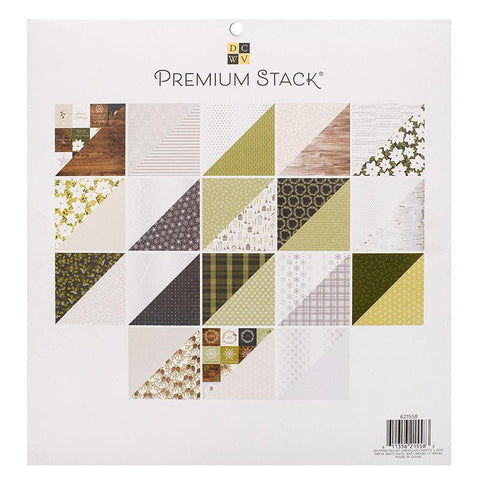 DCWV - D/Sided 12x12in Speciality Paper Stack - O Christmas Tree