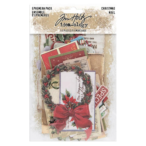 Tim Holtz - Idea-Ology Ephemera Pack 51 pack - Christmas