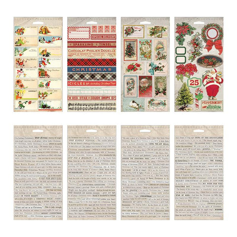 Tim Holtz - Idea-Ology Sticker Book 4.5 inchX8.75 inch - Christmas, 335 pack