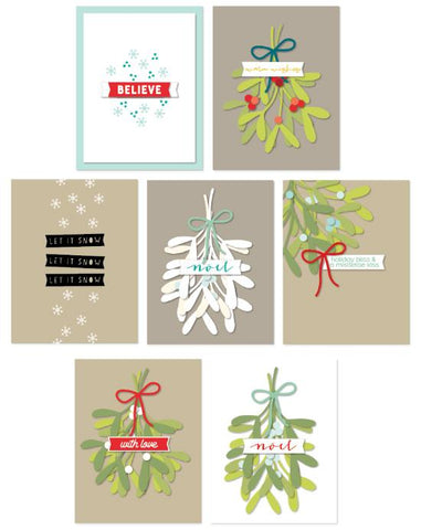Concord & 9th Clear Stamps 3 inchX4 inch - Mistletoe Messages