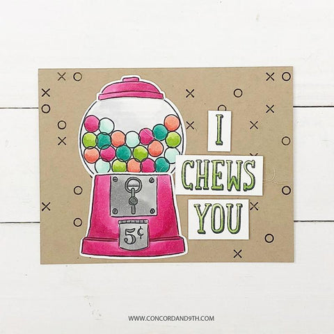 Concord & 9th Clear Stamps 6in x 6in - I Chews You