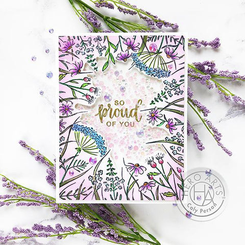 Hero Arts + Pinkfresh Studio 6 inch X8 inch Stamp Set - You Make A Difference