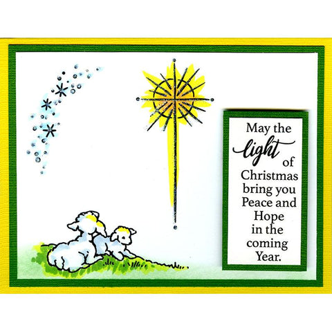 Stampendous - Cling Stamp - Light & Hope -  Includes 9 stamps.