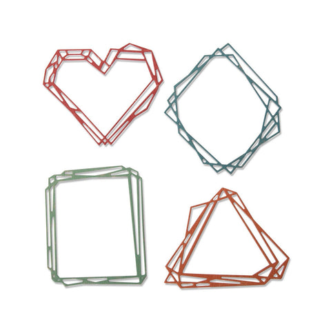 Sizzix - Thinlits Die Set 4 pack – Geo Frames by Tim Holtz
