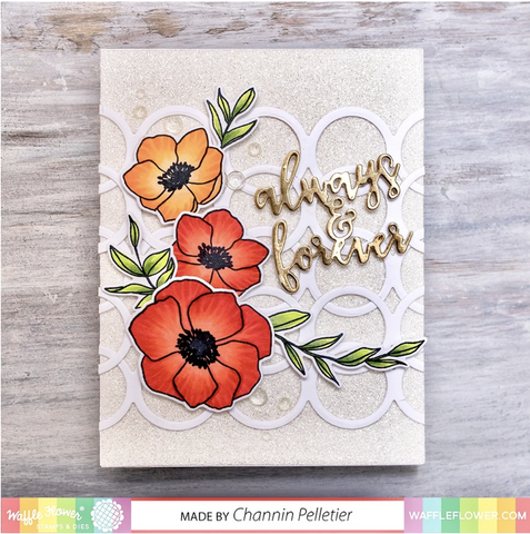 Waffle Flower Crafts Die - Watercolour Swatches