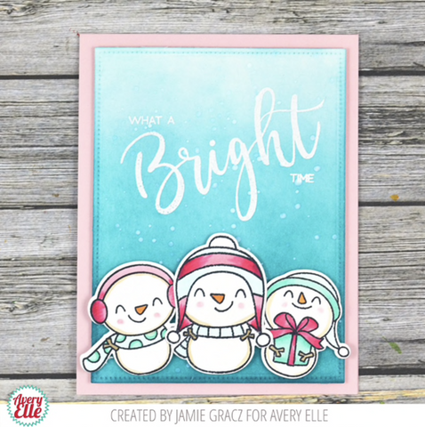 Avery Elle - Clear Stamp Set 4 inch X3 inch - Simple Said: Bright