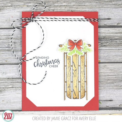 Avery Elle - Clear Stamp Set 4 inch X6 inch - Alpine Christmas