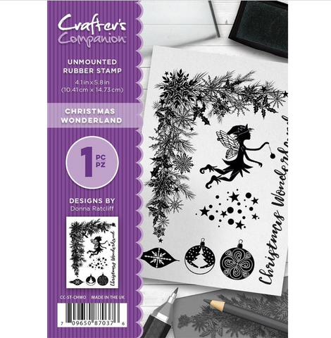 Crafters Companion Clear Stamps 4.1 inchX5.8 inch - Christmas Wonderland